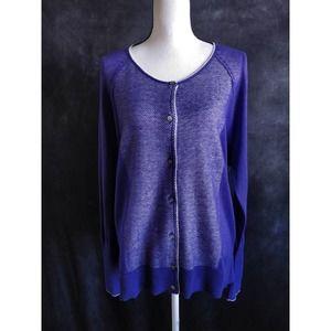Simply Vera Wang Purple Knit Cardigan Sweater XL